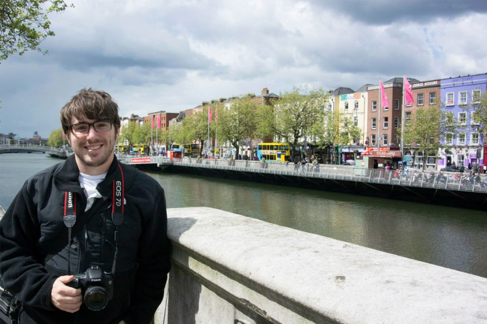 Ryan in front of The River Liffey