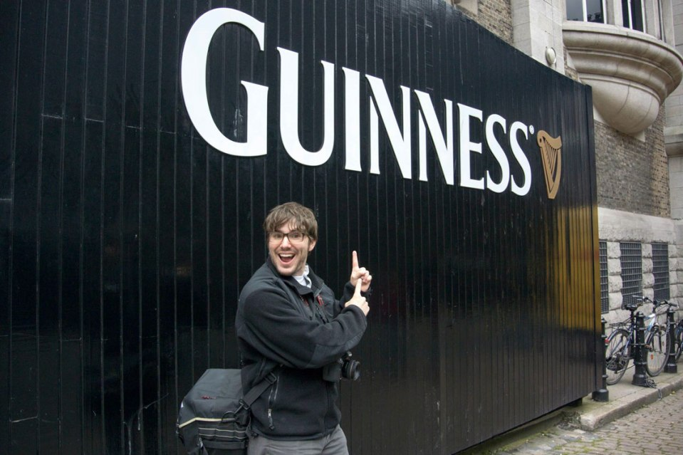 Ryan in front of Guinness Storehouse